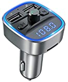 TEUMI Bluetooth FM Transmitter, in-Car Wireless Radio Adapter Music Player Car Kit