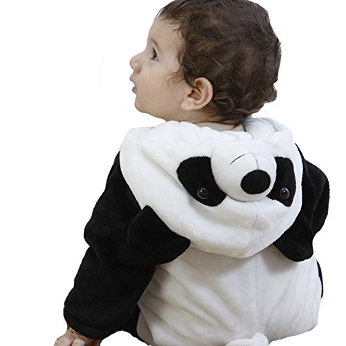 Tonwhar Unisex-Baby Animal Onesie Costume Cartoon Outfit Homewear (120:Ages 30-36 Months, Panda)
