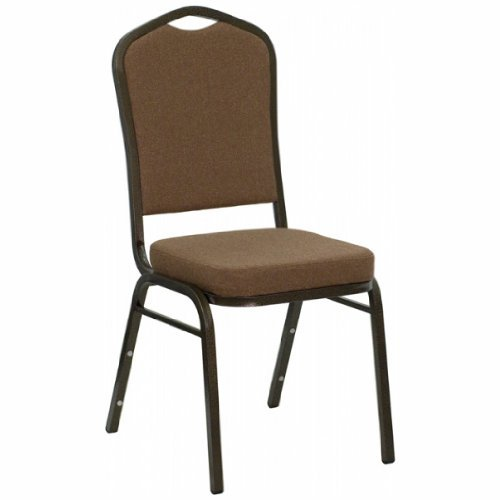 HERCULES Series Crown Back Stacking Banquet Chair with Coffe