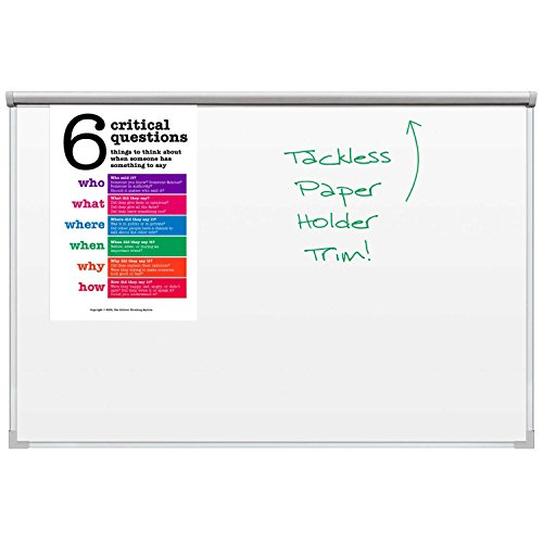 Balt Best Bite Whiteboard, Silver Ultra Trim, White, 96 x 48 - Balt Ultra Trim Board