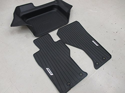 Mazda New OEM MX-5 Miata 2016 Rubber All Weather Protection kit Tray & Floor mats 0000-8B-D31 & 0000-8B-D30