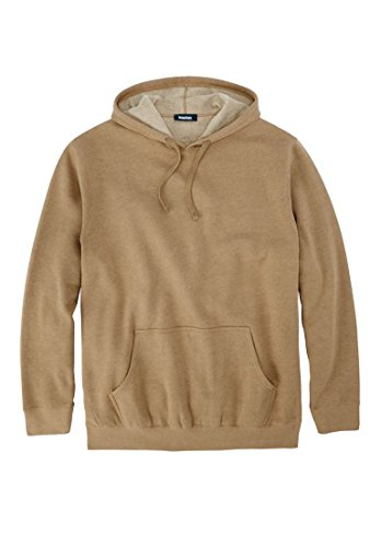 Price comparison product image Kingsize Men's Big & Tall Fleece Pullover Hoodie, Heather Khaki Tall-2Xl