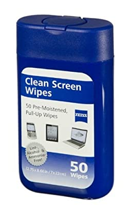 Zeiss Cleaning Pre-mpistened Wipes 50ct Multi Use - Cleans Lens, Lcds, Screens and More (Set of 8)