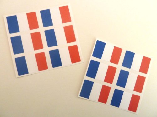 Minilabel Mini Sticker Pack , 33X20mm Rectangle , Self-Stick France Labels , French Flag Stickers - France Label