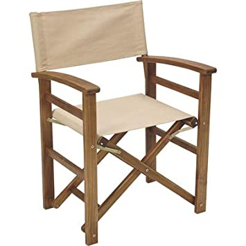 Acacia Wood Folding Director s Chair Natural