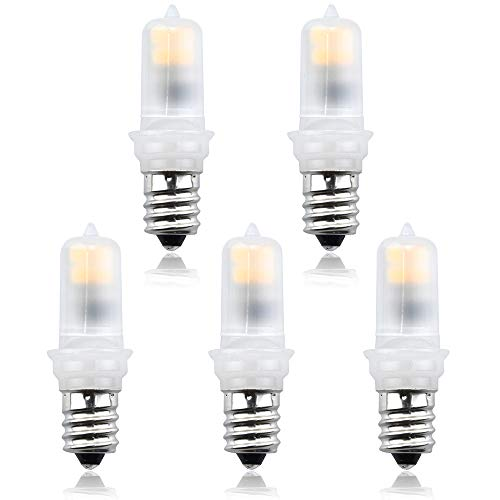 Bonlux LED E12 Candelabra Night Light - 2W (20W Equivalent) 120V JD T3/T4 E12 LED Chandelier Bulb Warm White 3000K for Ceiling Fan Cabinet Patio Lighting (5-Pack) ()