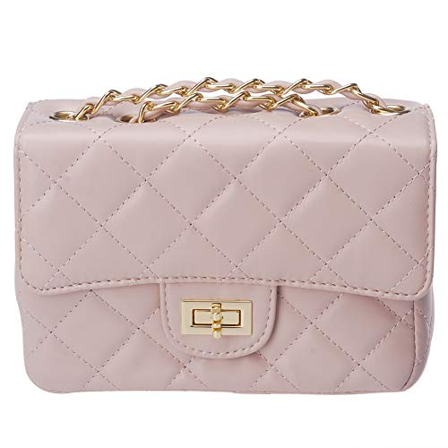 ToToDog Classic Metal Chain Quilted Purse for Women Crossbody Shoulder Bag  PU Leather Handbag 9c4cae8c4ab4a