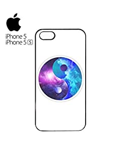 Ying Yang Galaxy Tumblr Mobile Cell Phone Case Cover iPhone 5&5s Black by mcsharks