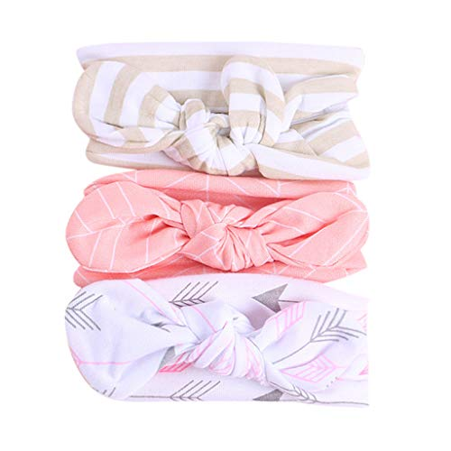 4 Clipper Ounce (3Pcs Hairbands for Baby Girls Shusuen Floral Headband Elastic Bowknot Kids Headband Photography Sets Pink)