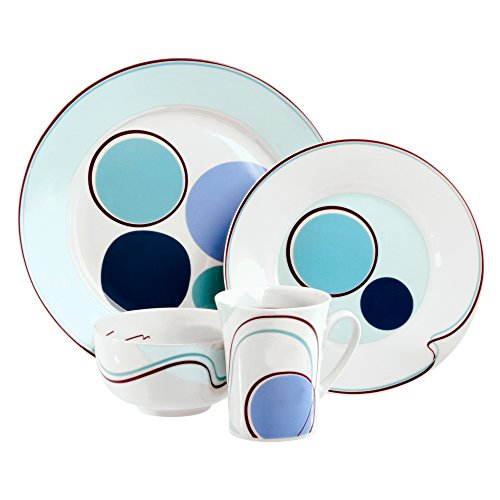 Livliga Hälsa 4-Piece Portion Control Dinnerware Set