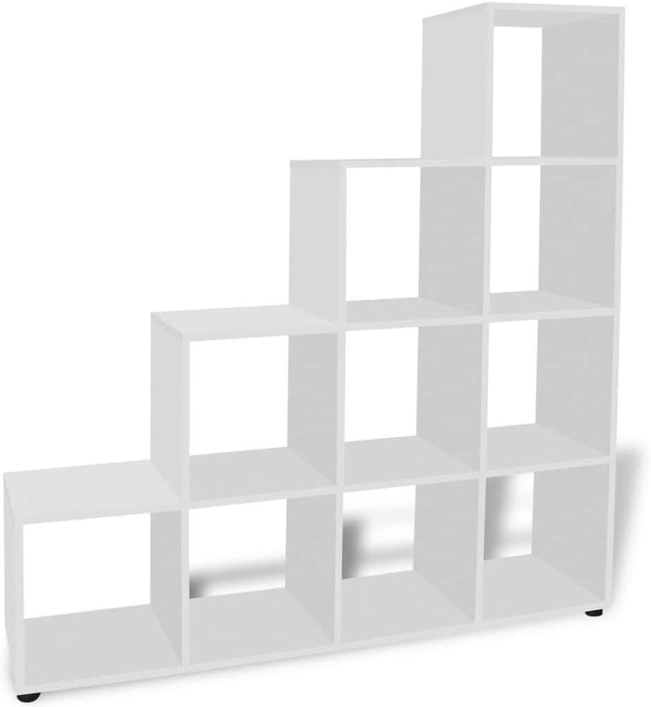 Tuduo estantería de Escalera/con estantes 142 cm Blanca diseño Elegante y único estantería Moderna estantería de diseño: Amazon.es: Hogar