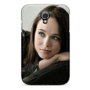 Special OrangeColor Skin Case Cover For Galaxy S4, Popular Look Of Ellen Page Phone Case
