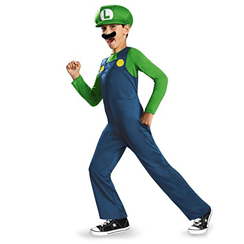 Disguise Nintendo Super Mario Brothers Luigi Classic Boys Costume, Small/4-6 (Mario And Luigi Costumes Kids)