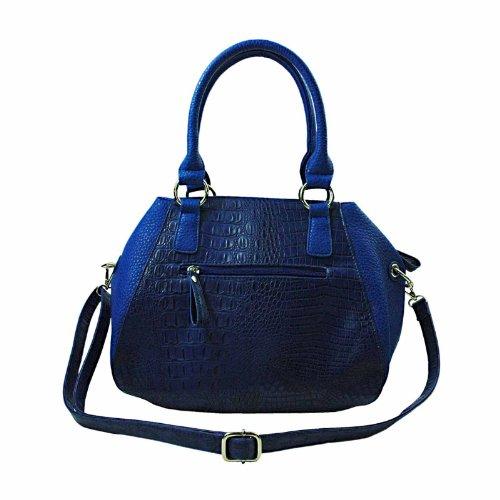 A-Zone, Borsa a tracolla donna Blu blu H 26 x B 31 x T 18 cm