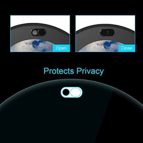 LANMU Screen Protector Webcam Cover for Echo Spot,Tempered Glass Screen Protector for Echo Spot with Webcam Cover 2 Pack Spot Accessories