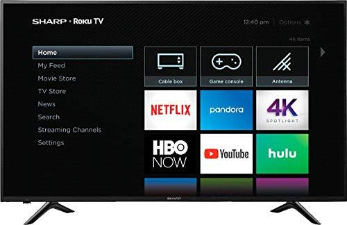 "Sharp 65"" Class 4K Ultra HD (2160P) Roku Smart LED TV (65Q7330U) (Renewed)"