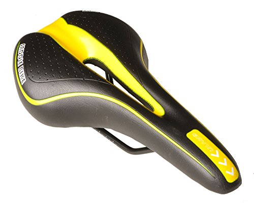 Gavin Bike Saddle Mountain Bike Seat Comfort Road Bike (Anatomic Relief Gel)