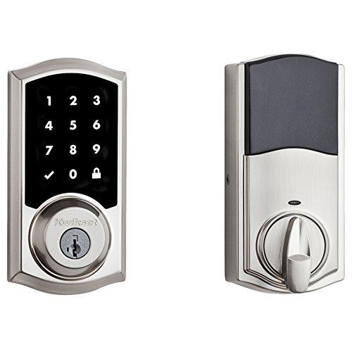 Kwikset 99160-008 SmartCode ZigBee Touchscreen Smart Lock works with Echo Plus & Alexa, featuring SmartKey, Satin Nickel by Kwikset (Image #2)