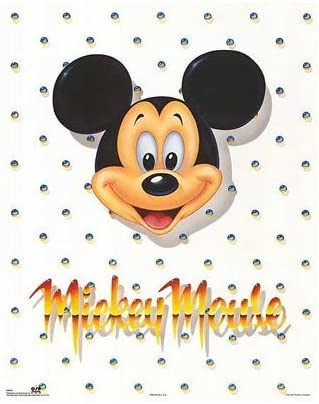 Walt Disney Mickey Mouse Self Portrait  Art Print 16 x 20 More Sizes Available