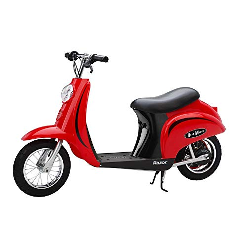 (Razor Pocket Mod Miniature Euro 24 Volt Electric Retro Scooters, 1 Red & 1 Pink)