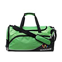 Wacces Lightweight Sport Gym Travel Duffle Bag with Shoe Punch Medium