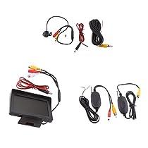 MonkeyJack Car Rear View Night Vision Camera+ 4.3 LCD Display Monitor+Wireless Modules