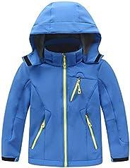 Kid's Fleece Lined Softshell Skiing Jacket Boys Girls Winter Warm Hoodies