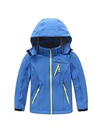 Kid's Fleece Lined Softshell Skiing Jacket Boys Girls Winter Warm Hoodies Coat
