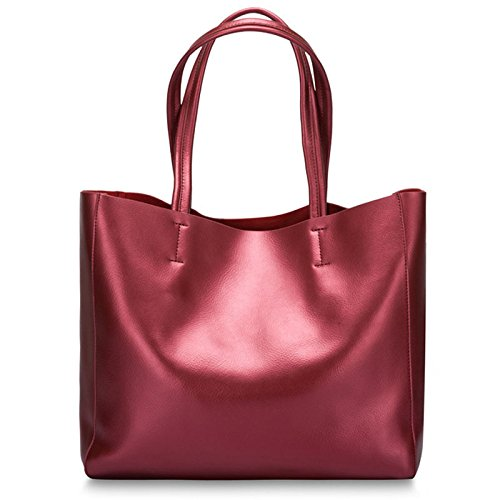 Handbag Leather Genuine Elegant Big Lady Cowhide Leisure Ms Fashion Classic Of Bag Bag Bags Hand Shoulder Bag Bag C Pearl JPFCAK PESvAqn
