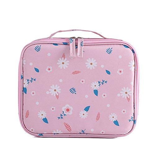 Jiaruo Ladies Mini Compact Portable Women Make up Makeup Organizer Bag (daisy (Mini Daisy Dot)