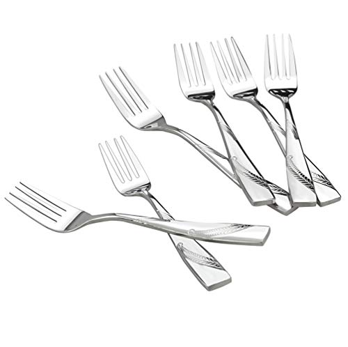 Nicesh 6-Piece Stainless Steel Large Buffet Serving Fork, Large Forks, 9.45-INCH