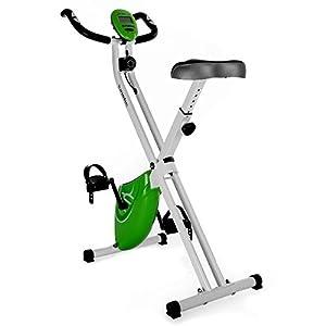 EB01 Ergometer Heimtrainer Hometrainer mit Computer und Hand-Pulsmessgerät Grün