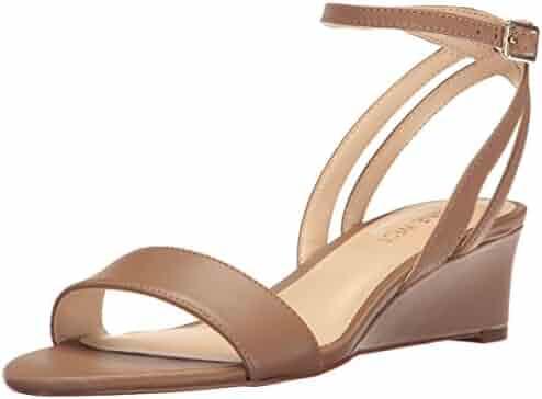 Nine West Women's Lewer Leather Wedge Sandal