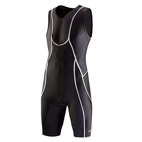 6cc4cf926f4 Lo.gas Men s Triathlon Trisuit Race Suit for Cycling Running Swimming  Sleeveless Short Sleeve