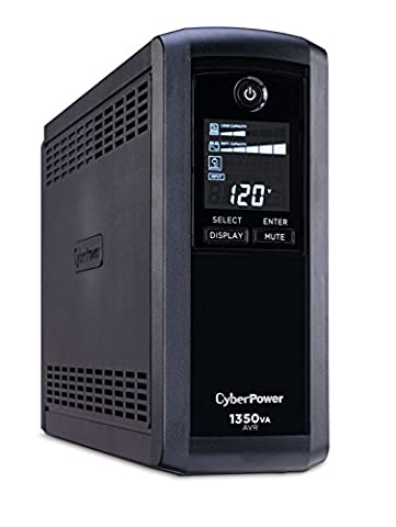 CyberPower CP1350AVRLCD Intelligent LCD UPS System, 1350VA/815W, 10 Outlets, AVR, Mini-Tower (Ups Cyberpower)
