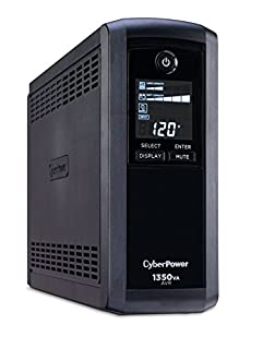 CyberPower CP1350AVRLCD Intelligent LCD UPS System, 1350VA/815W, 10 Outlets, AVR, Mini-Tower (B000OFXKFI) | Amazon Products