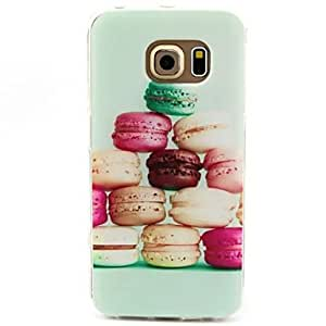 DD 20150511 Hamburger Pattern TPU Soft Case Cover for Samsung Galaxy S6 edge