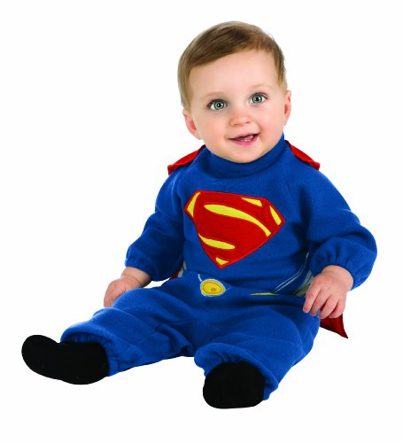 Rubie's Costume Man Of Steel Superman Romper, Blue/Red, 12-24 Months -