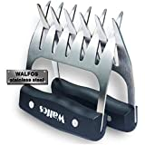 Walfos Stainless Steel Pulled Pork Shredder Claws - Essential for BBQ Pros - Strong Metal Pork Claw for Handling,Lift, Shredding, and Carving Meat - Ultra-Sharp Blades & Heat Resistant