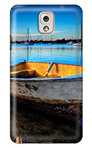 Simply Case Designed A Boat in The Blue Lake DIY Phone Case for 3D Samsung note3