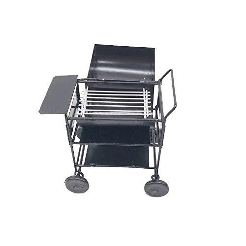 (Maikouhai Mini Barbecue Grill, BBQ Grill Miniature Yard Garden 1/12 Dollhouse Barbecue Picnic Grill Oven Black - Metal, 5.1x4.6x8.5cm)