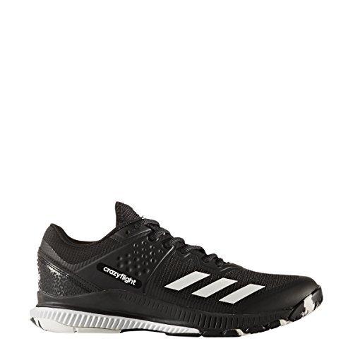 adidas Performance Women's Crazyflight Bounce W Volleyball Shoe, Black/White/Black, 10 Medium US by adidas