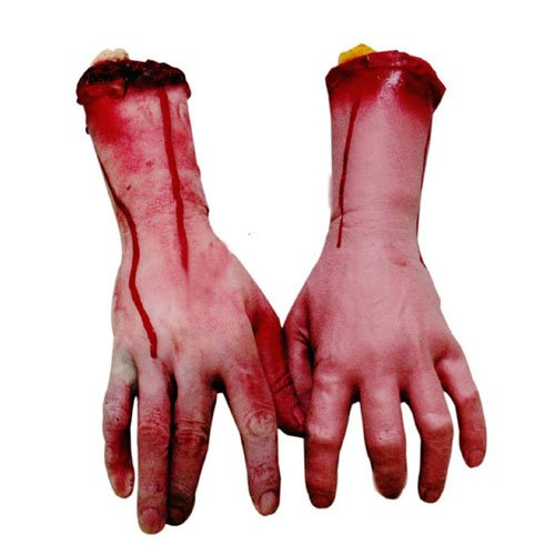 Lifesize Human Arm Hand Bloody Dead Body Parts Haunted House Halloween Prop (Haunted Houses Ideas)