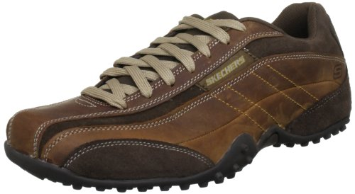 Skechers Urbantrack Imperial Mens Leather Walking Trainers / Shoes - Brown Brown