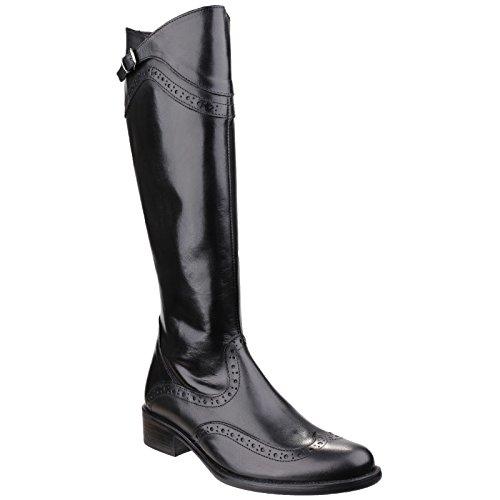 in pelle Zip Riva Boot Side Nero Catania eleganti signore 5IxIRAw