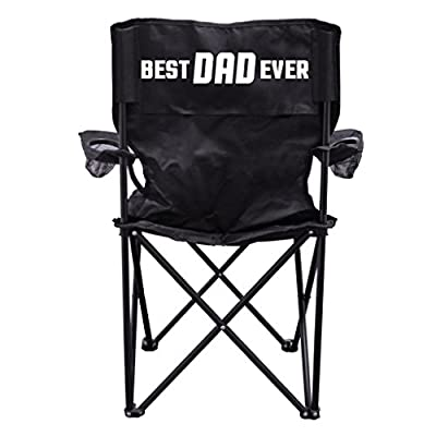 """Best Dad Ever"" - Father's Day Gift - Camping Chair with Carry Bag"