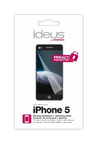 Ideus PPRIP5 Film de Protection d'écran pour Apple iPhone 5 (l'unité) avec chiffon de nettoyage Transparent