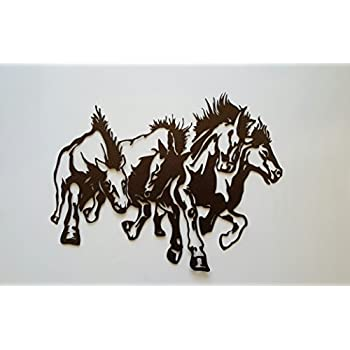 Amazon.com: Draft Horse Head Metal Wall Art Country Rustic Home ...