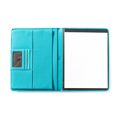 Leatherology Deluxe Portfolio - Full Grain Leather - Teal (blue) by Leatherology
