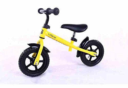 12inchストライダー子供バランス自転車、カーボンホイール、スチールフレーム、レッド、ブルー、黄色、ピンク、グリーン B07CP1L7V1 イエロー イエロー